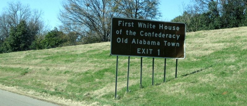 Signs to the First White House of Confed