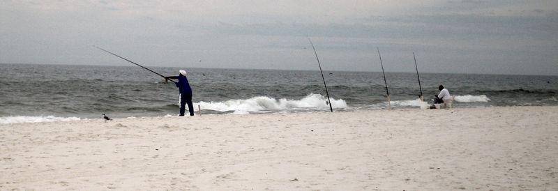 Fishermen on the coast