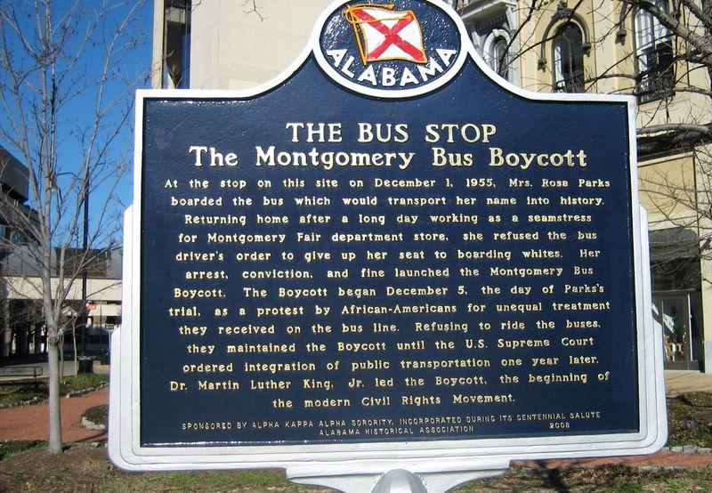 Rosa Parks bus stop