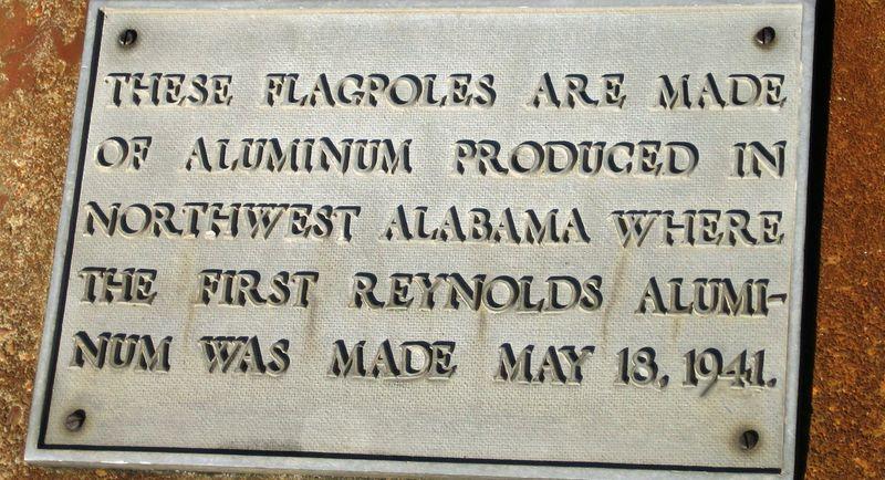 Flag poles were made in Alabama