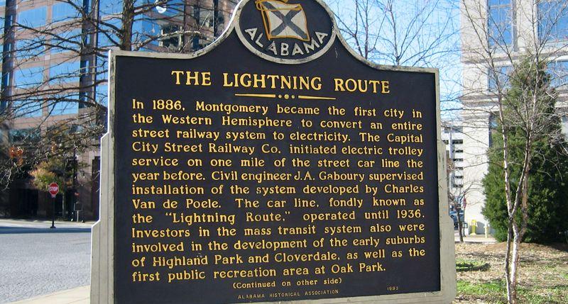 Alabama Lightning Route