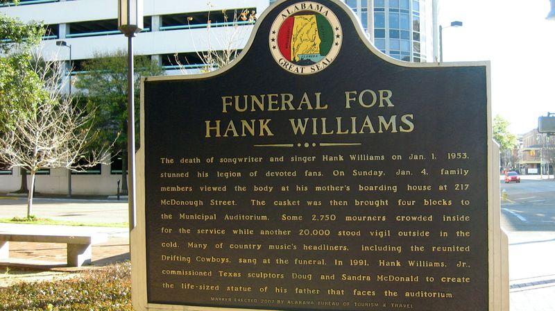 Hank Williams died in 1953