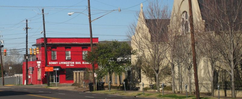 Bail bonds and churches on the same block