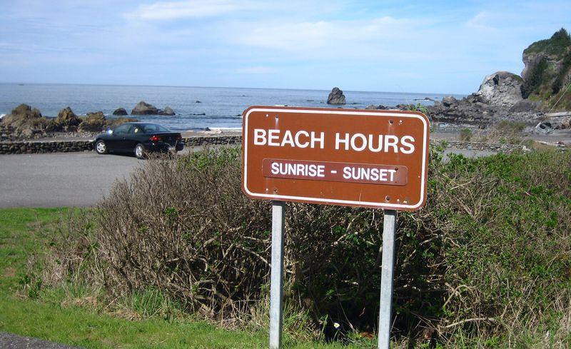 Beach hours