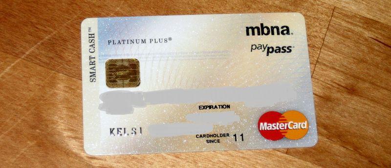 MBNA card