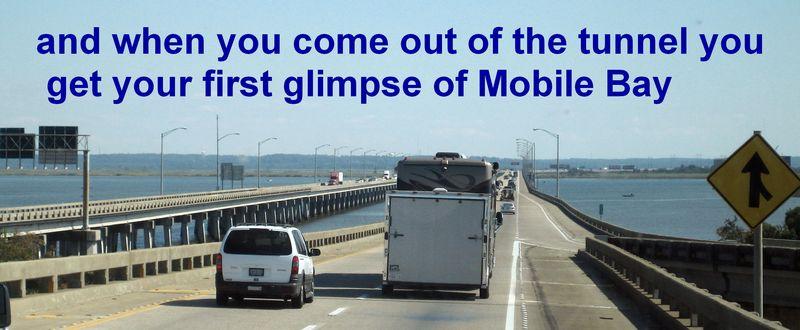 The bridge across Mobile Bay