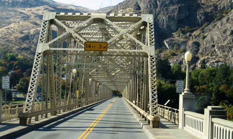 Heading onto the bridge
