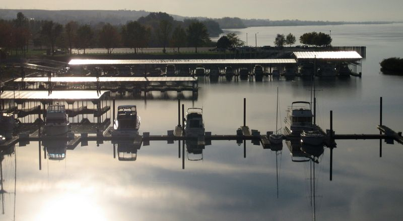 Small fishing boats at the dock