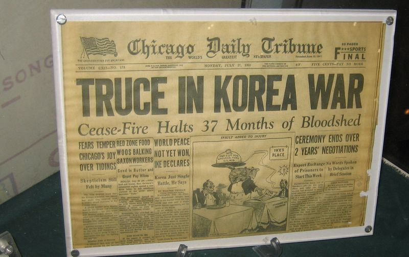 Front page of the Chicago Tribune