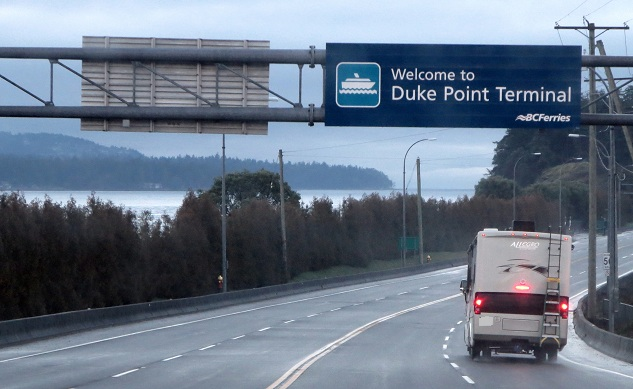 Duke point terminal is only 15 minutes away
