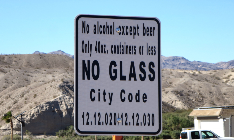 Beer ONLY in this park