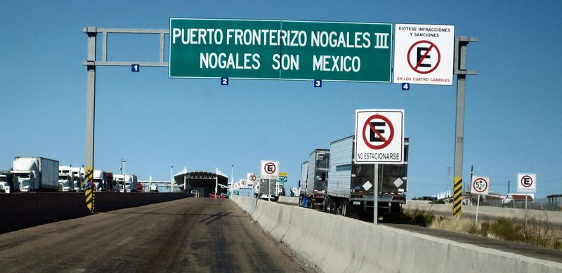 Nogales border to AZ 1