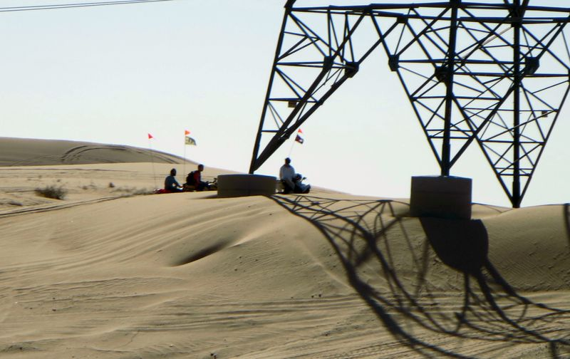 Dune buggies in the sand
