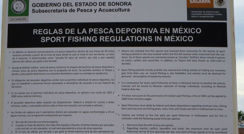 Mex fishing rules