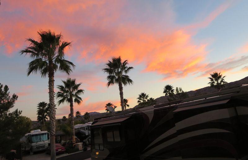Morning sky at the RV resort