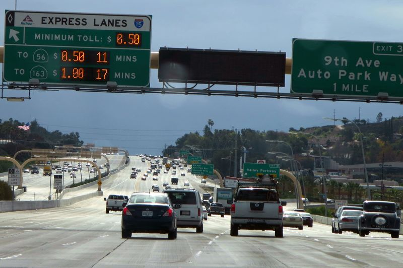 Express lanes cost money here
