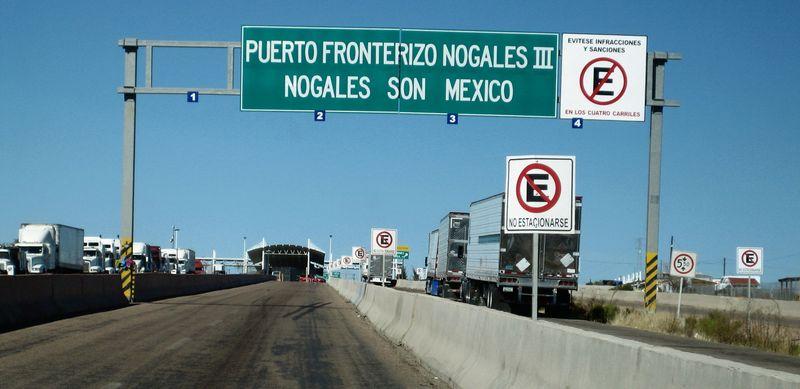 Nogales border to AZ 1