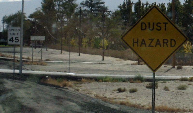 Dust hazard sign