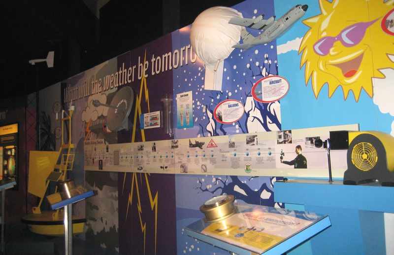 Weather education area for student tours
