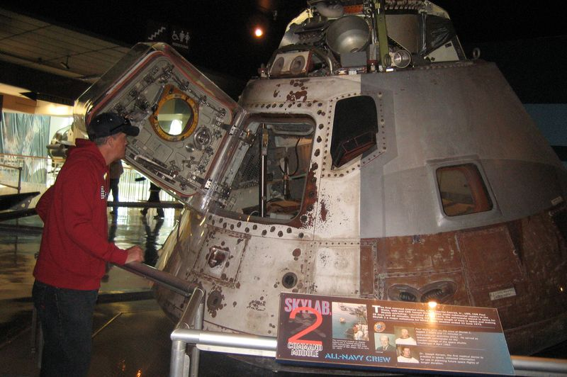 My Fella checking out Skylab 2