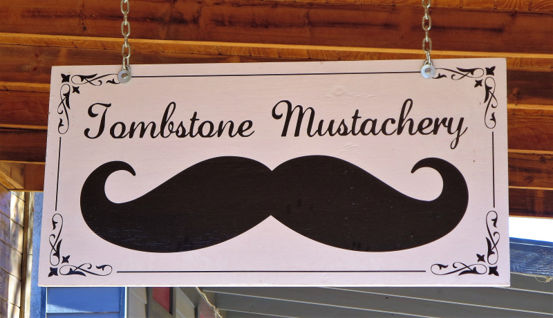Tombstone mustachery