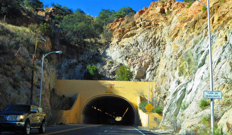 Mule Pass Tunnel built in 1958