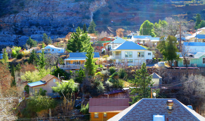 Homes in the hills