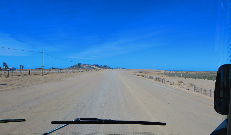 Long sandy road to The Reef